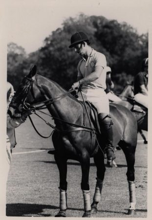 Prince Charles playing polo in Cirencester Park