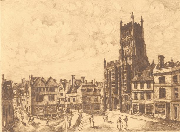 Engraving of the Market Place by J. Evans, 1805