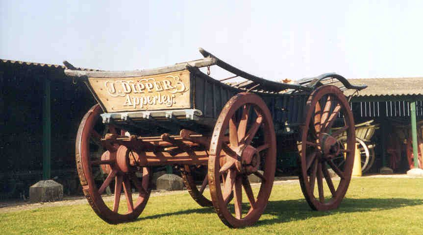 A Cotswold/South Midlands bow waggon from Apperley in north Gloucestershire, from the Lloyd-Baker Collection.