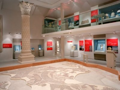 Main Roman Gallery with Orpheus Mosaic
