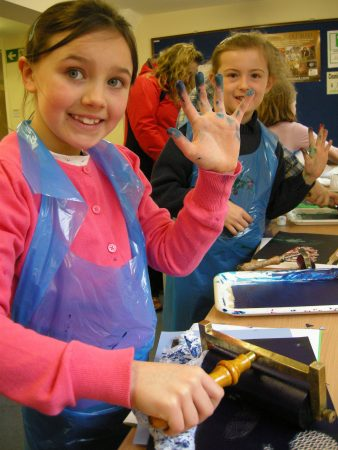 Printmaking at the museum