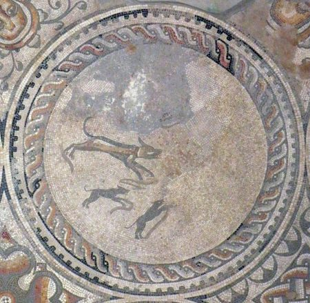 Hunting Dogs Mosaic