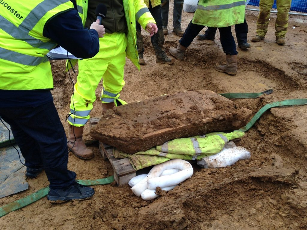 Lifting of the Bodicacia Tombstone