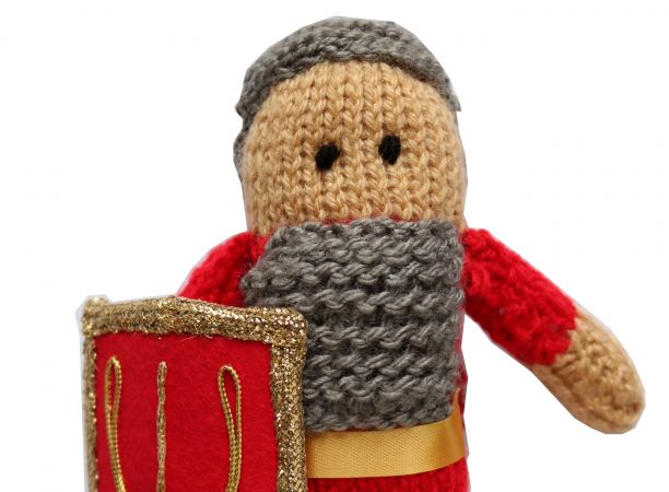 Knitted Roman Soldier