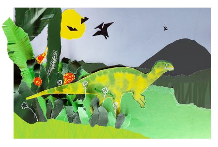 Dinosaur Paint and Collage